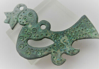 Detector Finds Ancient Viking Nordic Bronze Dragon Fafnir Pendant Wearable