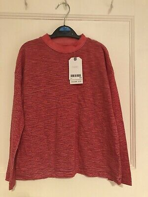 Brand New With Tags!! Next Girls Red Striped Top. Age 7. RRP £9.00