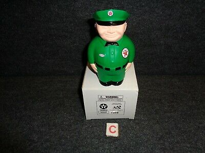 GREEN 1940's TEXACO FAT MAN 'Spanky' CAST RESIN REPLICA COIN BANK - MFG 1998