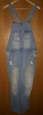 ladies vintage factory distressed dungarees . size large . rockabilly ,...