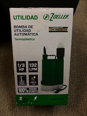 New! Zoeller 0.33-HPThermoplastic Submersible Utility Pump 1043-0006