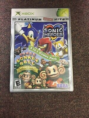 Sonic Heroes / Super Monkey Ball Deluxe 2 In 1 Combo Pack Xbox