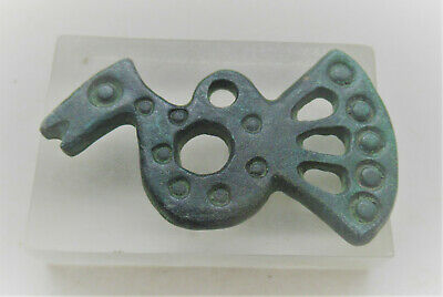 Circa 900 - 1100 Ad Viking Era Norse Bronze Dragon Fafnir Amulet Wearable