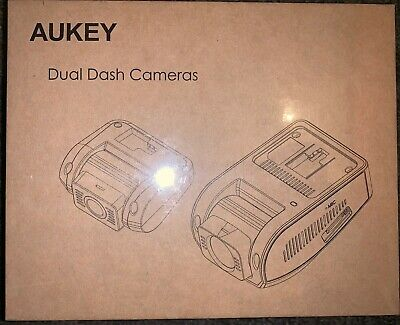 AUKEY Dash Cam DR02D Dual 1080P HD Front & Rear 6-Lane 170° Wide-Angle WDR