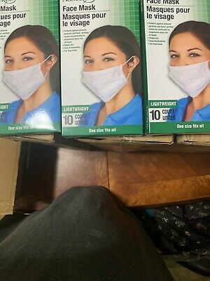 Assured Earloop Surgical Face Mask Disposable Viral Flu 30 count 3 boxes