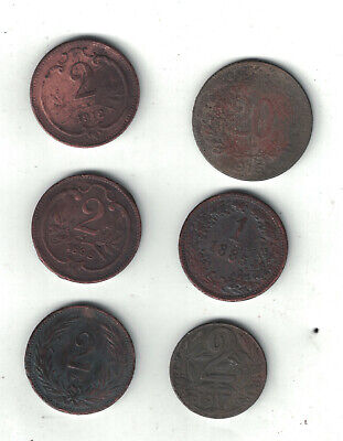 Assortment of Heller Coin from Austria or Hungary.