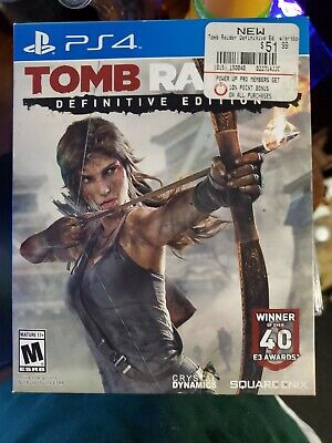 Tomb Raider Definitive Edition Sony PlayStation 4 PS4 Square Enix Brand New