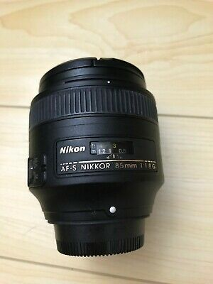 Nikon Nikkor 85mm f/1.8G AF-S Lens - W/Lens Hood and UV Filter