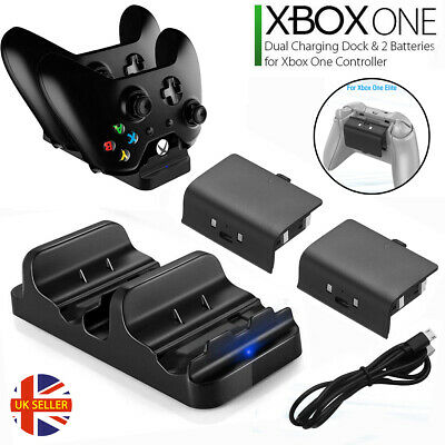 XBOX ONE Dual Charging Dock Station Controller Charger 2 Extra Battery Pack AC56
