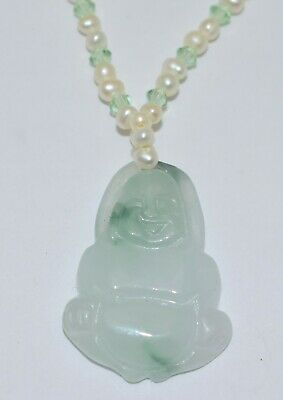 Jade Pendant Necklace on  Green Cord with Tassels Carved Fruit Asian Design  JP2