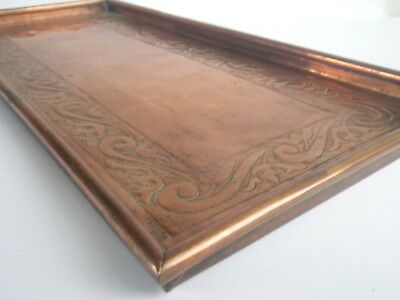 Keswick School Arts & Crafts W H Mawson Large Copper Tray C435
