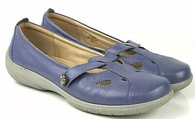 Hotter comfort concept size 7.5 corn flour blue flats comfort shoes pumps