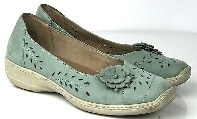 Hotter comfort concept green comfy shoes flats 5 38 cutout floral detail holiday