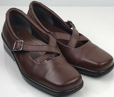 Hotter Comfort concept Brown leather criss cross comfortable shoes size Uk 5 38