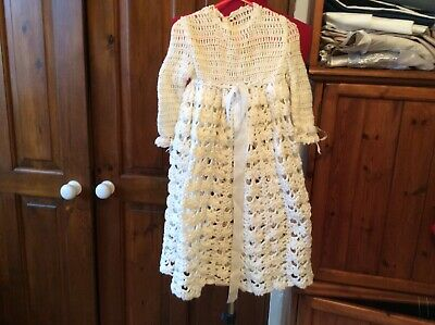 vintage Childs Crochet Christing Gown