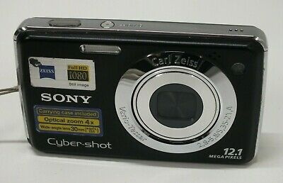 Sony Cyber-shot DSC-W215 12.1MP Digital Camera - Black - Carl Zeiss Lens - 4GB