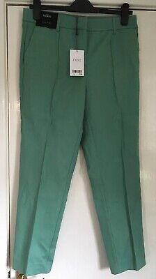 BNWT Size 10 Long NEXT Green Capri / Cropped Trousers - Holiday / Workwear