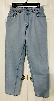Vintage Levi's 551 Womens Jeans Sz 10 Relaxed Tapered Red Tab Mom Faded Washed