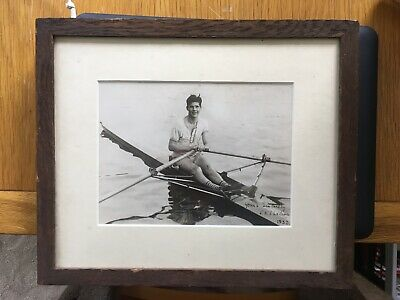 Olympic History: Rowing. Framed Photo Of JHT Wilson