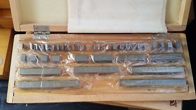 Precision Metric Gauge Block (38 pcs) Class 1 Top Grade ! Endmass Satz USSR!