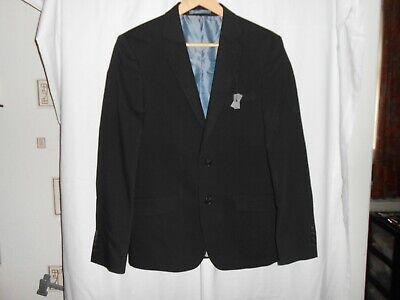 "M&S COLLECTION WOOL RICH SLIM FIT JACKET BLACK UK 38"" Chest SHORT NEW"