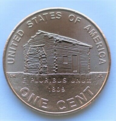 U.S 2009 D Lincoln Log Cabin Bicentennial Penny Uncirculated One Cent Coin