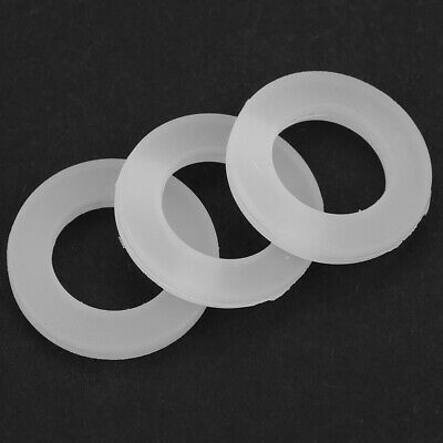 50pcs 19mm 12mm OD 7mm High Silicone O Ring Seal Gaskets White for Water Heater