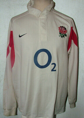 Nike England Home Rugby Union 2002/3 Shirt XXL To Fit 47/48inch chest