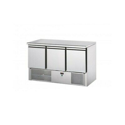 Refrigerated Saladette Td with Floor in Granite - 3 Ports