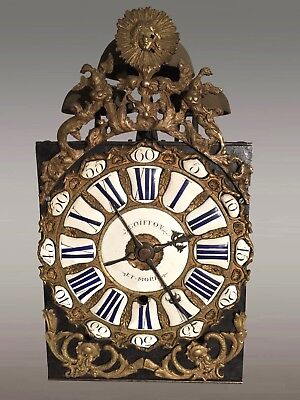 Movement Clock Early 18th Century Signed Goiffon and Morel