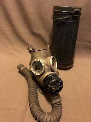Gas Mask Container Box Canister German WW2 Military