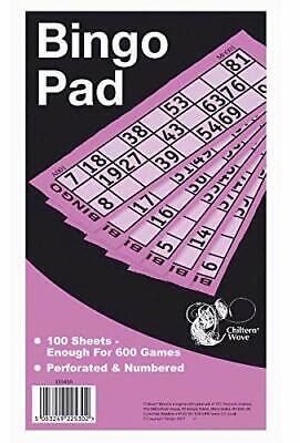 2 books -1200 Bingo Game Single Ticket Card Flyer Pads Book Security Coded Party