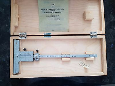 Precision depth gauge 200 mm /0.05mm USSR NEW solid alloy VERY RARE!