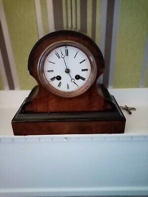 Antique French Clock 8 Day Bell Striking Mantle Clock