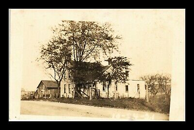 Us Sepia Rppc Postcard View Old Farmhouse Dated 10-24-1921