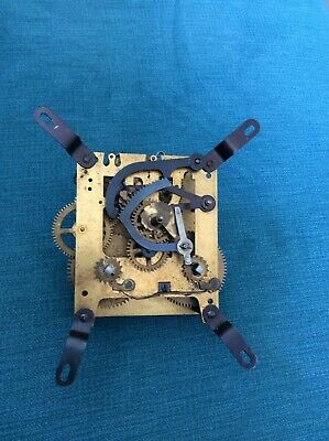 Antique  Brass Mantle Clock Movement Spares Repair Parts
