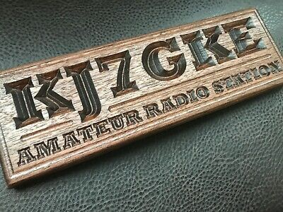 Field Day 110v Custom Engraved LED Sign  Amateur Radio Club Call Plaque