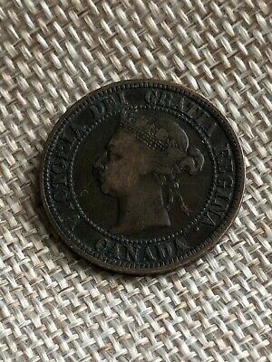 1892 Canada Large Cent **Intact N in Regina, Obverse