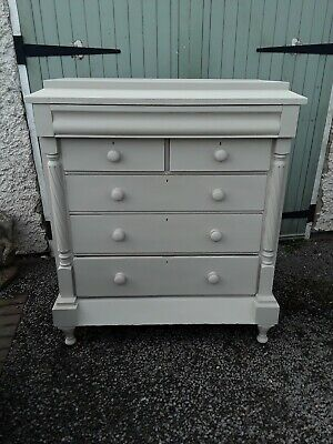 Victorian Painted Scottish Chest Of Drawers