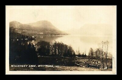 Us Sepia Rppc Postcard Willoughy Lake Westmore Vermont Undivided Back