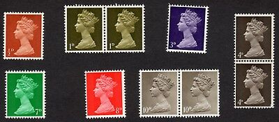 GB: Nice selection of pre-decimal Machin definitives; unmounted mint (MNH)