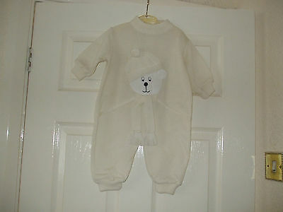 Cream All In One Play Suit For 3 Month Baby Brand New /  Dani Exclusive Design