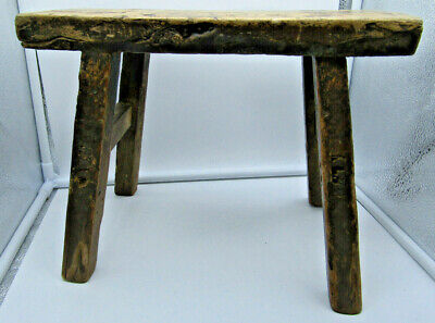 Small Rustic Antique Milking Stool
