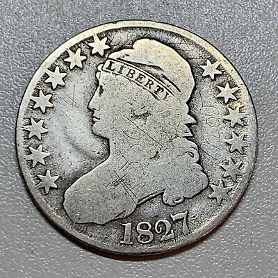 1827 Capped Bust Half Dollar    Affordable Key Type Coin