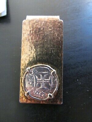 "Money Clip with COA Certified Shipwreck Silver from ""Nuestra Señora De Atocha"""