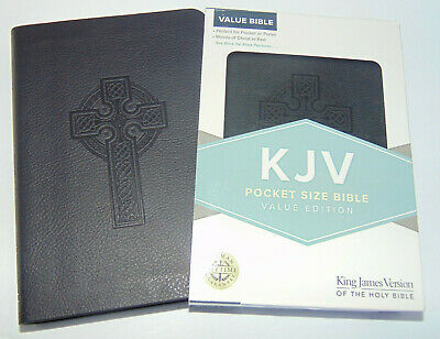 KJV Holy Bible, Pocket Size, Black Leather-Touch Cover King James Version, Small