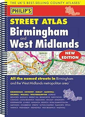 Philip's Street Atlas Birmingham and West Midlands: Spiral Edition, Philip's Map
