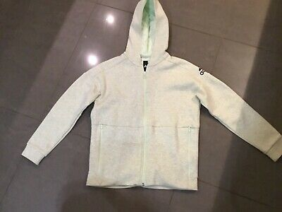 Girls Green Hooded Tracksuit Top Jacket Genuine Adidas Age 11-12