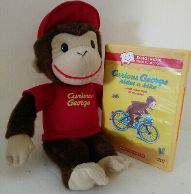 Curious George Stuffed Monkey Scholastic Classic Video Margaret Rey Stories