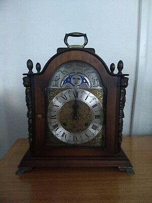 FRANZ HERMLE Mantel Clock Rolling Moon Phase Westminster Chime No Reserve